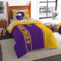 Minnesota Vikings NFL Twin Comforter Bed in a Bag (Soft & Cozy) (64in x 86in)