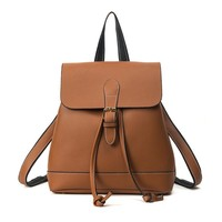 women's leather Backpack Leather printed School Bags For Teenagers Girls Backpacks