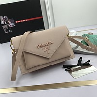 prada women leather shoulder bag satchel tote bag handbag shopping leather tote crossbody 3