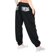 Adult Metallic Pocket Sweatpants,3800SIL