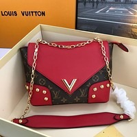 LV Louis Vuitton M55152 Women's Tote Bag Handbag Shopping Leather Tote Crossbody Satchel  25✖️15✖️9CM