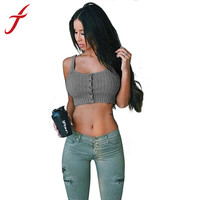 Womens Lady Sexy Bra Vest Fitness Knit Casual Blouse Shirt Cropped Tank Tops Women IMY66