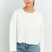 Urban Outfitters Fluffy Cropped Sweatshirt | Urban Outfitters