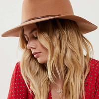 Felt Faux Leather Trim Panama Hat | Urban Outfitters