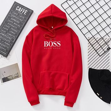 Unisex Leisure Fashion Letter Personality  Printing Hooded  Long Sleeve Tops Trousers Two-Piece Set Casual Wear Sportswear
