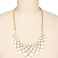 Ivory Scallop Statement Necklace