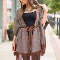 Western World Cardigan, Brown
