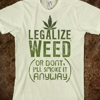 Natural T-Shirt | Cool 420 Weed Shirts