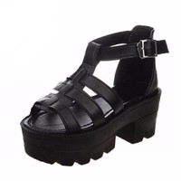 Nel Jelly Platform Sandals