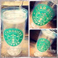 Starbucks Coffee 16oz. Glitter Tumbler - Hot or Cold Beverages.