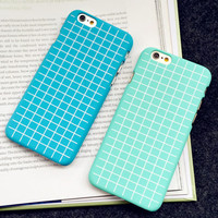 Fresh Ultrathin Grid Case Best Protection Cover for iPhone 5s 6 6s Plus