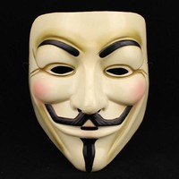 Generic V for Vendetta Mask Guy Fawkes Halloween Masquerade Party Face Costume Cosplay masque Mask Anonymous