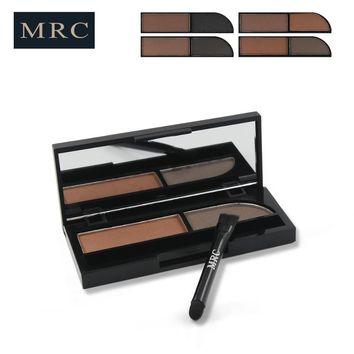 MRC Eyebrow Powder 2 Colors Eye brow Powder Palette Waterproof and Smudge Proof with Makeup Brush Tool