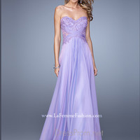 Strapless Sweetheart La Femme Formal Prom Gown 20762