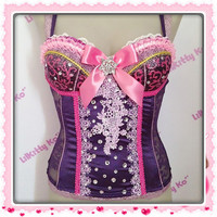 Princess Rapunzel  Custom Lace Corset with matching by lilkittyko