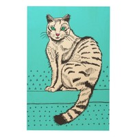 Cat Wood Canvas Wood Wall Art