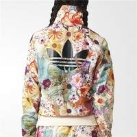Adidas Women Fashion Floral Print Track Jacket