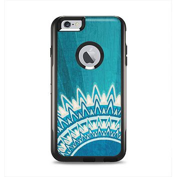 The Blue Spiked Orb Pattern V3 Apple iPhone 6 Plus Otterbox Commuter Case Skin Set