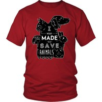 Veterinary T Shirt - I was made to save animals [black ver.]
