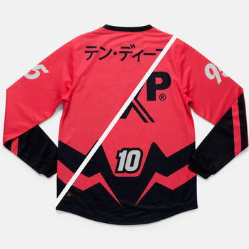 10Deep | Tops | Sponsored Moto Jersey - Safety Red