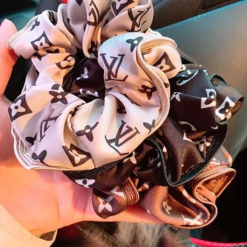 LV Louis Vuitton Classic Retro Print Silk Headband Headdress Hair Ring