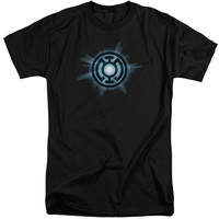 GREEN LANTERN/BLUE GLOW-S/S ADULT TALL-BLACK