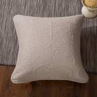 """DaDa Bedding Set of Two Sand Dollar Square Throw Pillow Covers, 18"""" x 18"""",  2-PCS (JHW-585-CC)"""