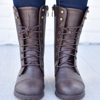Bobbi Combat Brown Boot
