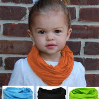 New Kids Girls Solid Cotton Jersey Knit  Circle Ring Scarf 1 loop Infinity Scarves for Kids Free Shippping = 1957851268