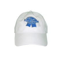 Vintage Culture Pabst Blue Ribbon Patched Dad Hat In White