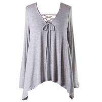 Lace Up Longsleeve Top