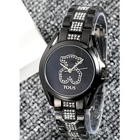 TOUS 2019 new bear rhinestone dial logo quartz watch 6