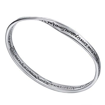 "FREE ""Love is patient,love is kind ... "" quote bracelet bangle"