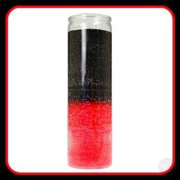 Double Action Black/ Red 7-day Jar Candle