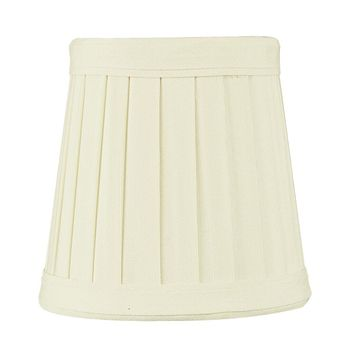 """4""""W x 4""""H Egg Shell Pleated Clip-on Candelabra Lampshade"""