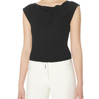 Architectural Bow Neck Blouse