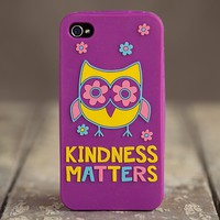 Owl  -  Kindness  Matters  iPhone  4  Cover  From  Natural  Life