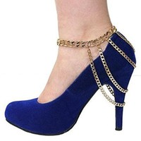 Women's Fashion Gold Multilayer Pendant Foot Jewelry Foot Chain