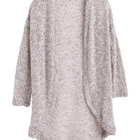 Knit Rose Long Cardigan