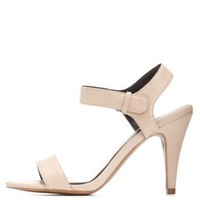 Nude Qupid Single Strap Dress Sandals by Qupid at Charlotte Russe
