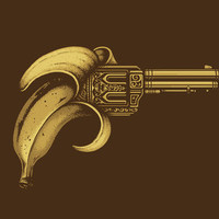 Banana Gun Stretched Canvas by Enkel Dika | Society6