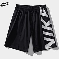 NIKE Summer New Fashion Letter Print Shorts Black