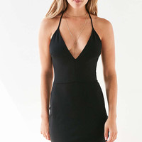 Silence + Noise Deep-V Strappy-Back Bodycon Mini Dress - Urban Outfitters