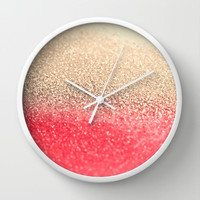 *** GATSBY CORAL GOLD***  Wall Clock by Monika Strigel for your perfect girlsroom!