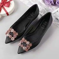 Roger Vivier Women Fashion Casual Flats Shoes