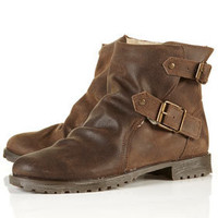 MIFFIN Lined Biker Boots - View All - Shoes - Topshop