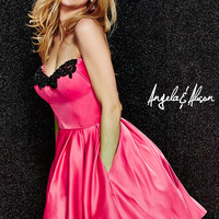 Strapless Sweetheart Babydoll Dress by Angela and Alison
