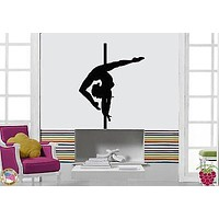 Wall Stickers Vinyl Decal Pole Dance Streaptease Dancing For Living Room Unique Gift (z1710)