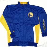 Golden State Warriors Majestic Tricot Jacket Big and Tall Sizes