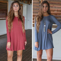 2016 Loose Long Long Sleeve Solid Casual Party Playsuit Clubwear Bodycon Boho Dress _ 9135